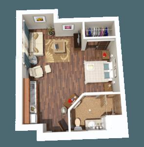 Tampa Assisted Living Studio Senior Apartment