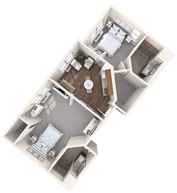 Tampa Assisted Living Two Bedroom Senior Apartment