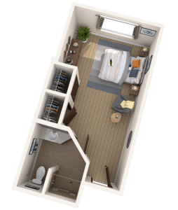 Tampa Memory Care Studio Senior Apartment